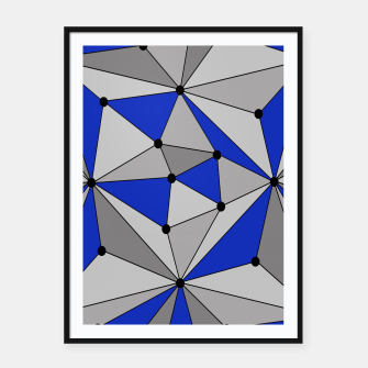 Thumbnail image of Abstract geometric pattern - blue and gray. Framed poster, Live Heroes