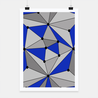 Thumbnail image of Abstract geometric pattern - blue and gray. Poster, Live Heroes