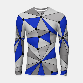 Thumbnail image of Abstract geometric pattern - blue and gray. Longsleeve rashguard , Live Heroes