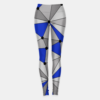 Miniatur Abstract geometric pattern - blue and gray. Leggings, Live Heroes
