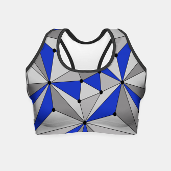 Miniatur Abstract geometric pattern - blue and gray. Crop Top, Live Heroes