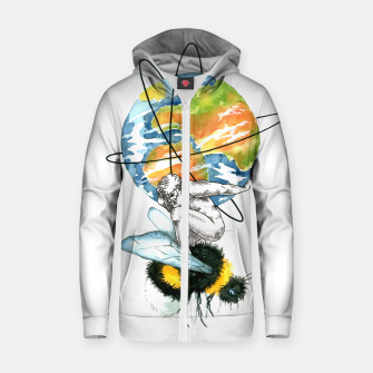 Thumbnail image of atlas Zip up hoodie, Live Heroes