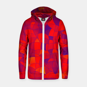 Thumbnail image of Geometric Shapes Fragments Pattern 2 bry Zip up hoodie, Live Heroes