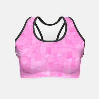 Miniatur Geometric Shapes Fragments Pattern 2 mag2 Crop Top, Live Heroes