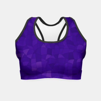 Miniatur Geometric Shapes Fragments Pattern 2 dp Crop Top, Live Heroes