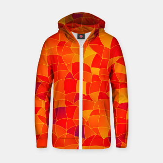 Thumbnail image of Geometric Shapes Fragments Pattern 2 bryi Zip up hoodie, Live Heroes