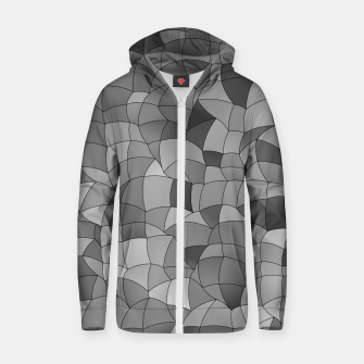 Thumbnail image of Geometric Shapes Fragments Pattern 2 bw Zip up hoodie, Live Heroes