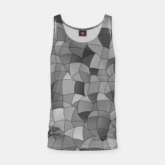 Thumbnail image of Geometric Shapes Fragments Pattern 2 bw Tank Top, Live Heroes