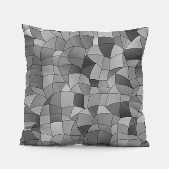 Thumbnail image of Geometric Shapes Fragments Pattern 2 bw Pillow, Live Heroes