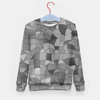Thumbnail image of Geometric Shapes Fragments Pattern 2 bw Kid's sweater, Live Heroes