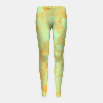 Thumbnail image of Geometric Shapes Fragments Pattern 2 ow Girl's leggings, Live Heroes