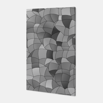 Thumbnail image of Geometric Shapes Fragments Pattern 2 bw Canvas, Live Heroes