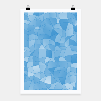 Thumbnail image of Geometric Shapes Fragments Pattern 2 wb Poster, Live Heroes