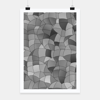 Thumbnail image of Geometric Shapes Fragments Pattern 2 bw Poster, Live Heroes