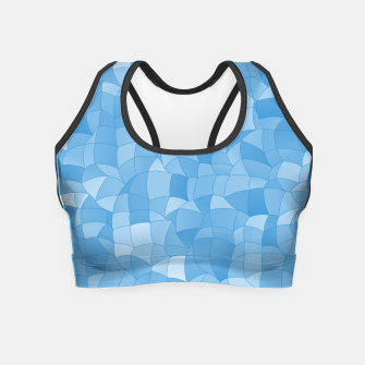 Miniatur Geometric Shapes Fragments Pattern 2 wb Crop Top, Live Heroes