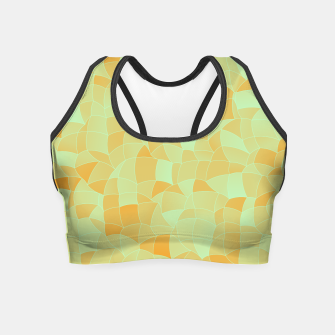 Miniatur Geometric Shapes Fragments Pattern 2 ow Crop Top, Live Heroes