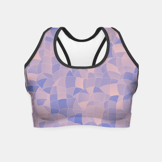 Miniatur Geometric Shapes Fragments Pattern 2 ppb Crop Top, Live Heroes