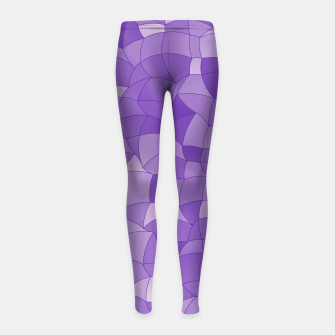 Imagen en miniatura de Geometric Shapes Fragments Pattern 2 pu2 Girl's leggings, Live Heroes