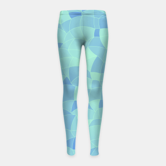 Imagen en miniatura de Geometric Shapes Fragments Pattern 2 ib Girl's leggings, Live Heroes