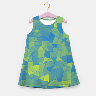 Thumbnail image of Geometric Shapes Fragments Pattern 2 by Girl's summer dress, Live Heroes