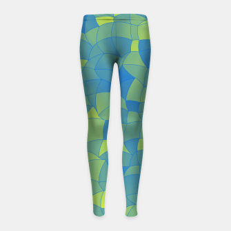 Imagen en miniatura de Geometric Shapes Fragments Pattern 2 by Girl's leggings, Live Heroes