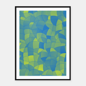 Imagen en miniatura de Geometric Shapes Fragments Pattern 2 by Framed poster, Live Heroes