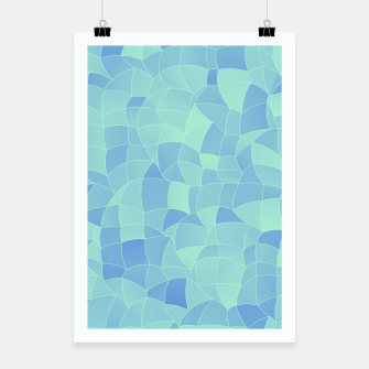 Miniatur Geometric Shapes Fragments Pattern 2 ib Poster, Live Heroes