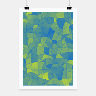Miniatur Geometric Shapes Fragments Pattern 2 by Poster, Live Heroes