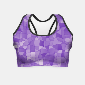 Miniatur Geometric Shapes Fragments Pattern 2 pu2 Crop Top, Live Heroes