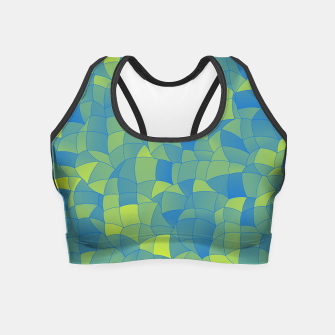 Miniatur Geometric Shapes Fragments Pattern 2 by Crop Top, Live Heroes