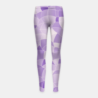 Imagen en miniatura de Geometric Shapes Fragments Pattern 2 pu2i Girl's leggings, Live Heroes
