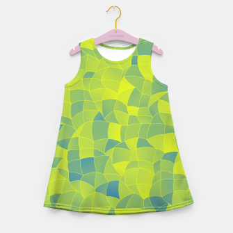 Thumbnail image of Geometric Shapes Fragments Pattern 2 byi Girl's summer dress, Live Heroes