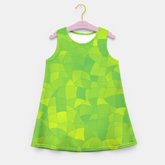 Thumbnail image of Geometric Shapes Fragments Pattern 2 yg Girl's summer dress, Live Heroes