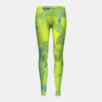 Imagen en miniatura de Geometric Shapes Fragments Pattern 2 byi Girl's leggings, Live Heroes
