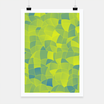 Miniatur Geometric Shapes Fragments Pattern 2 byi Poster, Live Heroes