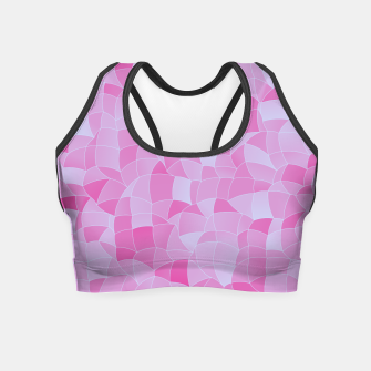 Miniatur Geometric Shapes Fragments Pattern 2 ip Crop Top, Live Heroes