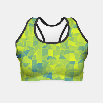 Miniatur Geometric Shapes Fragments Pattern 2 byi Crop Top, Live Heroes
