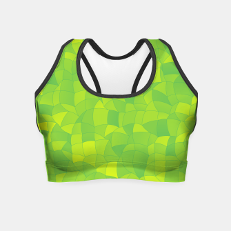 Miniatur Geometric Shapes Fragments Pattern 2 yg Crop Top, Live Heroes