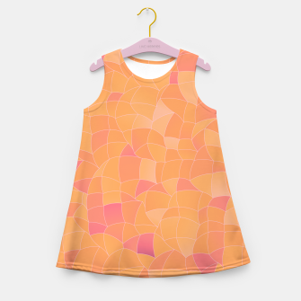 Thumbnail image of Geometric Shapes Fragments Pattern 2 cr2 Girl's summer dress, Live Heroes