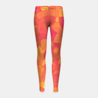 Imagen en miniatura de Geometric Shapes Fragments Pattern 2 pyp Girl's leggings, Live Heroes