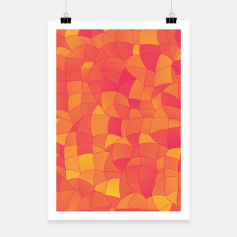 Miniatur Geometric Shapes Fragments Pattern 2 pyp Poster, Live Heroes