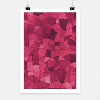 Miniatur Geometric Shapes Fragments Pattern 2 ip2i Poster, Live Heroes