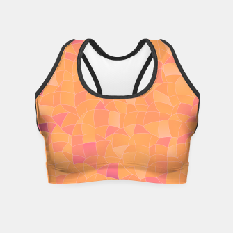 Miniatur Geometric Shapes Fragments Pattern 2 cr2 Crop Top, Live Heroes