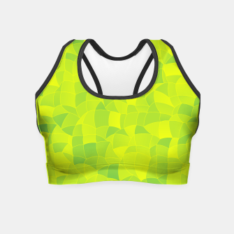 Miniatur Geometric Shapes Fragments Pattern 2 ygi Crop Top, Live Heroes