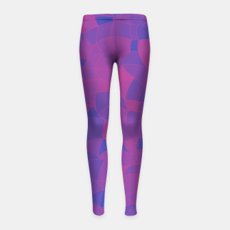 Imagen en miniatura de Geometric Shapes Fragments Pattern 2 pb3 Girl's leggings, Live Heroes