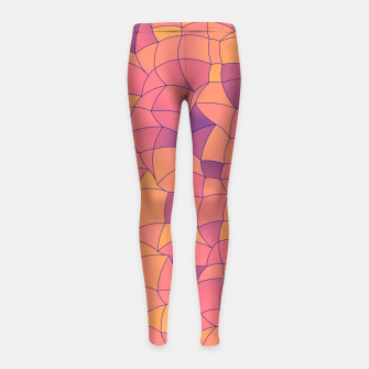 Imagen en miniatura de Geometric Shapes Fragments Pattern 2 cr2i Girl's leggings, Live Heroes