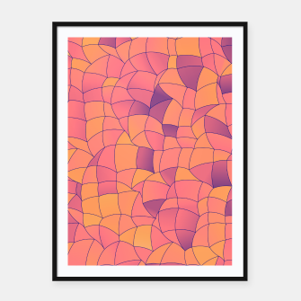 Imagen en miniatura de Geometric Shapes Fragments Pattern 2 cr2i Framed poster, Live Heroes