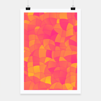 Miniatur Geometric Shapes Fragments Pattern 2 yp Poster, Live Heroes