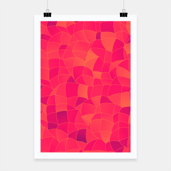 Miniatur Geometric Shapes Fragments Pattern 2 ip3 Poster, Live Heroes