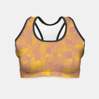Miniatur Geometric Shapes Fragments Pattern 2 pyp2 Crop Top, Live Heroes